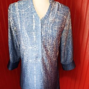 Soft Surroundings Blue Ombre Tunic XS
